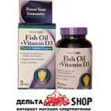 Natrol Fich Oil+vitamin D3  90 kap.