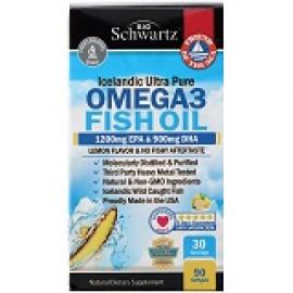 BioSchwartz омега-3 лимонный вкус 1200 мг ЭПК 900 мг ДГК 90 мягких таблеток