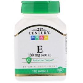 21st Century Витамин Е 400 МЕ 110 желатиновых капсул
