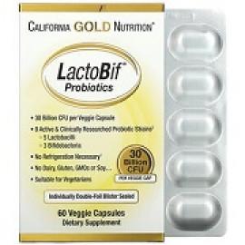 California Gold Nutrition LactoBif пробиотики 30 млрд КОЕ 60капсул
