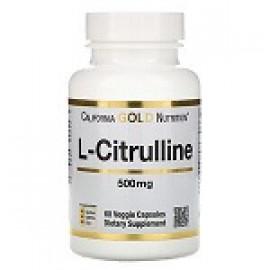 California Gold Nutrition L-цитруллин 500 мг, 60 капсул
