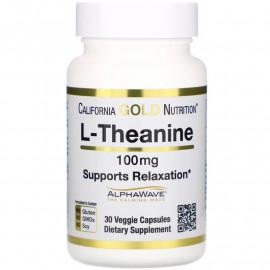 California Gold Nutrition L-теанин, AlphaWave поддержка расслабления 100 мг 30кап.