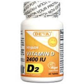 Deva Витамин D D2 веганский 2400 МЕ 90 таблеток