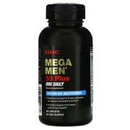 GNC Mega Men 50 Plus One Daily Multivitamin 60 Caplets