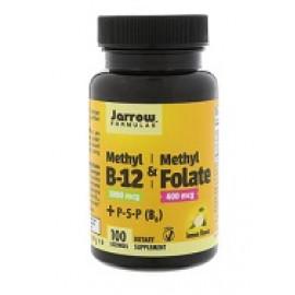 Jarrow Formulas Метил B-12 и метилфолат со вкусом лимона 1000 мкг / 400 мкг 100 леденцов