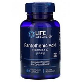 Life Extension пантотеновая кислота (витамин B5) 500мг 100 вегетарианских капсул