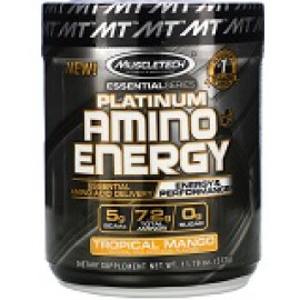 Muscletech USA Platinum Amino Plus Energy тропическое манго 317gr