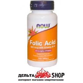 Now Foods Фолиевая кислота с витамином B12 800 мкг 250 таблеток