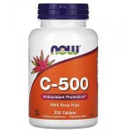 Now Foods C-500 с шиповником 250 таблеток