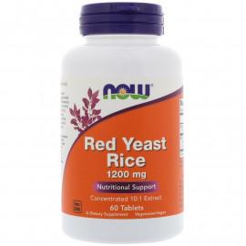 Now Foods Красный ферментированный рис 1200 мг 60 таблеток