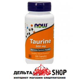 Now Foods Таурин 500 mg 100 kap