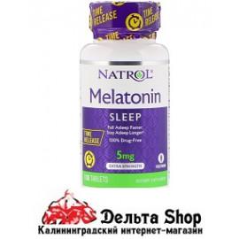Natrol Мелатонин медленное высвобождение с повышенной силой действия 5 мг 100 таблеток