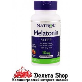 Natrol Melatonin Sleep Maximum Strength Strawberry 10 mg 60 Tablets