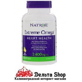 Natrol Extreme Omega Lemon 2,400 mg 60 Softgels