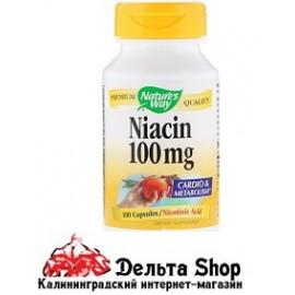 Nature's Way Ниацин 100 мг Никотиновая кислота 100 капсул