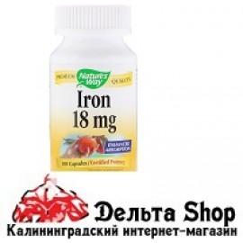 Nature's Way Iron 18 mg 100 Capsules