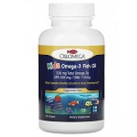 Oslomega рыбий жир с омега-3 для детей клубничный вкус 60 капсул