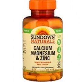 Sundown Naturals Кальций магний и цинк 100 капсул