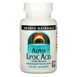 Source Naturals Альфа-липоевая кислота  300 мг 60таблеток