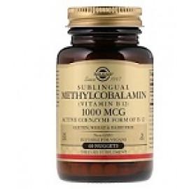 Solgar Сублингвальный метилкобаламин витамин B12 1000 мкг 60 капсул