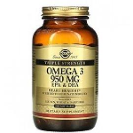 Solgar омега-3 ЭПК и ДГК тройной концентрации 950мг 100 капсул