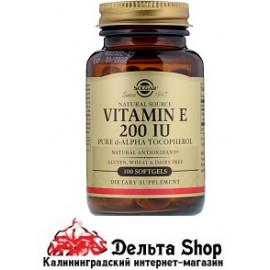 Solgar Витамин Е 100 гелевых капсул