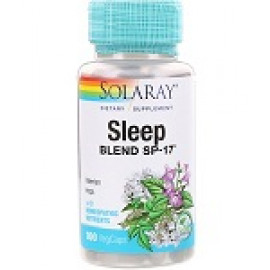 Solaray Снотворная смесь SP-17 100 растительных капсул