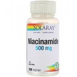 Solaray, Никотинамид, 500 мг, 100 капсул
