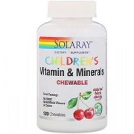 Solaray детские жевательные витамины и минералы вишни 120 таблеток