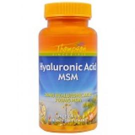 Thompson Гиалуроновая кислота - МСМ 30 растительных капсул