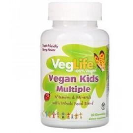 VegLife Мультивитамины для детей вкус ягод 60 таблеток
